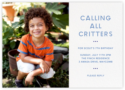 Photo Spread - White - Paperless Post - Kids' birthday invitations