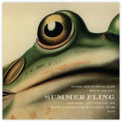 Frog - John Derian - Summer Party Invitations