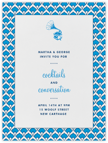 Veda - Electric Blue - Paperless Post - Dinner Party Invitations