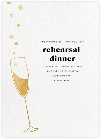 Champagne Bubbles - Paperless Post - Wedding Weekend Invitations