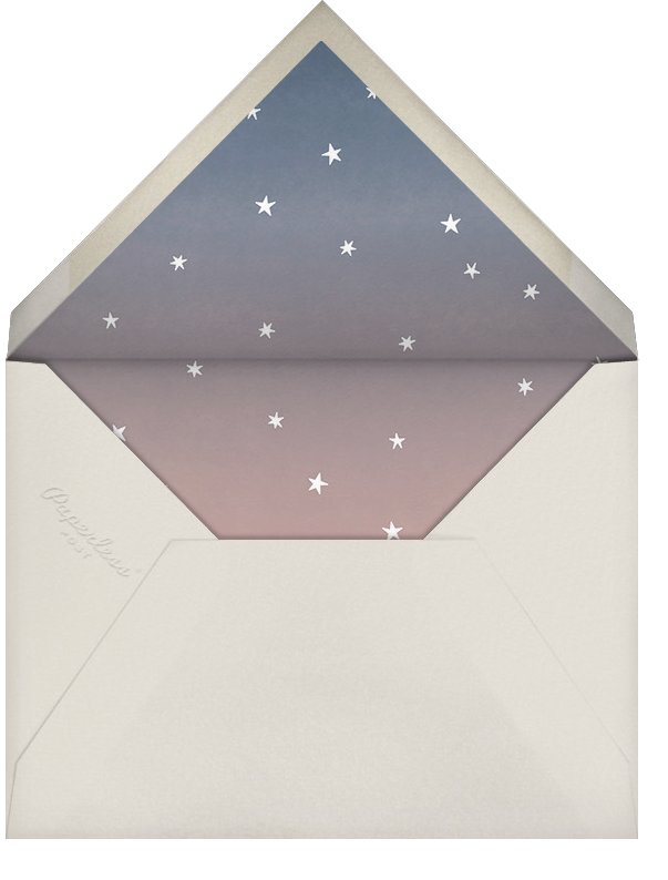 L'Heure Bleue (Stationery) - Rose Gold - Paperless Post - Personalized stationery - envelope back