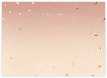 L'Heure Bleue (Stationery) - Rose Gold - Paperless Post - Personalized Stationery
