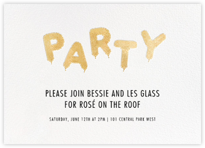 Mylar Party - Gold - Paperless Post - Online Party Invitations
