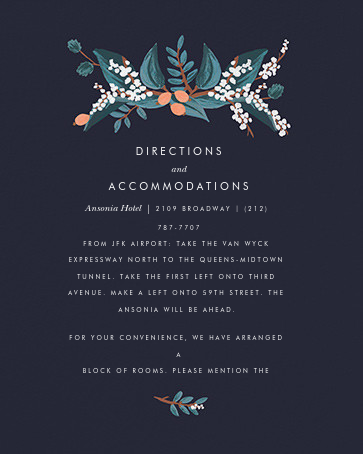 Mandarin Grove (Invitation) - Rifle Paper Co. - Printable invitations - insert front