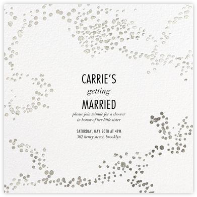 Evoke (Square) - White/Silver - Kelly Wearstler - Bridal shower invitations