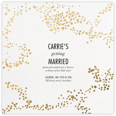 Evoke (Square) - White/Gold - Kelly Wearstler - Bridal shower invitations