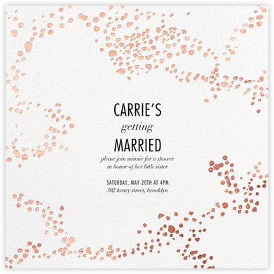 Evoke (Square) - White/Rose Gold - Kelly Wearstler - Bridal shower invitations