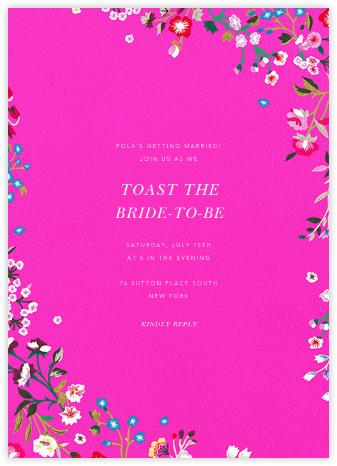 Embroidered Floral - Shocking Pink - Oscar de la Renta -