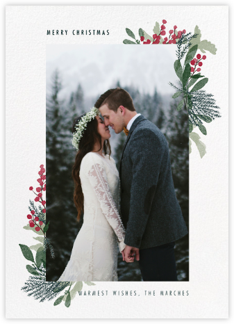 Yule Blooms Christmas (Tall) - Paperless Post -