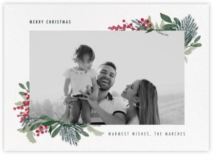 Yule Blooms Christmas (Horizontal) - Paperless Post -