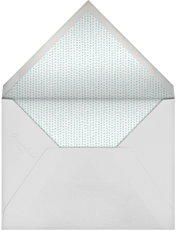 Holepunch - Teal - Paperless Post - New Year's Eve - envelope back