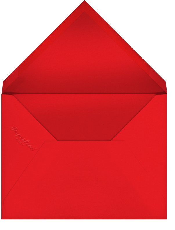 New Year Cutouts (Tall Inset) - Silver - Paperless Post - Envelope