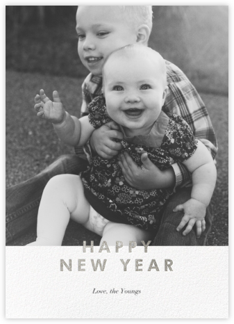 New Year Cutouts (Tall Inset) - Silver - Paperless Post -