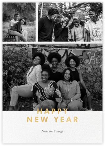 New Year Cutouts (Tall Multi-Photo) - Gold - Paperless Post -