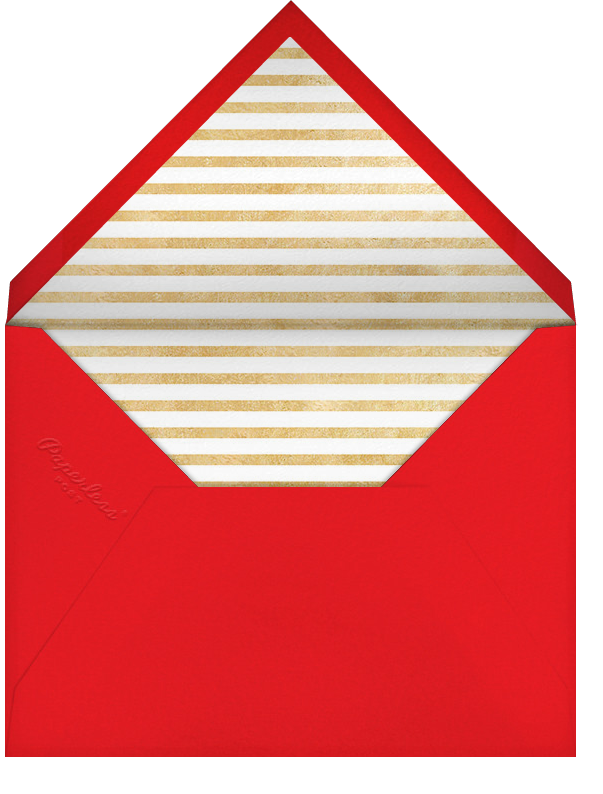 New Year Cutouts (Horizontal Inset) - Gold - Paperless Post - Envelope