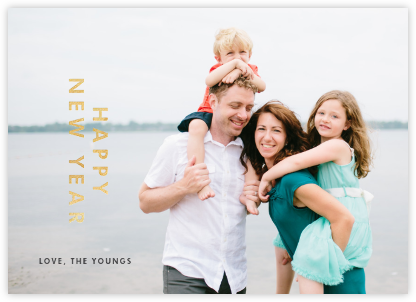 New Year Cutouts (Horizontal) - Gold - Paperless Post - New Year Cards