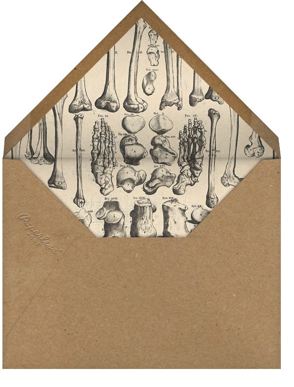 Skeleton with Drink - John Derian - Halloween - envelope back