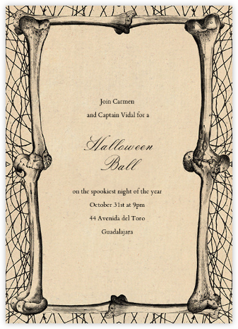 Bones Border - John Derian - Halloween invitations