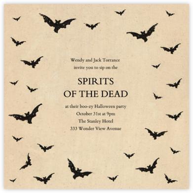 Bat Swarm - John Derian - Halloween invitations