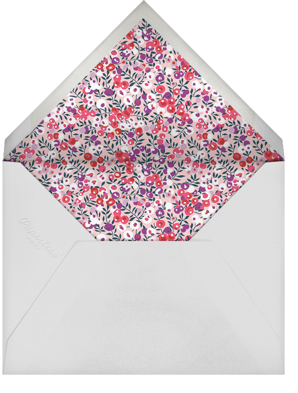 Wiltshire Berry - Pink - Liberty - Bar and bat mitzvah - envelope back