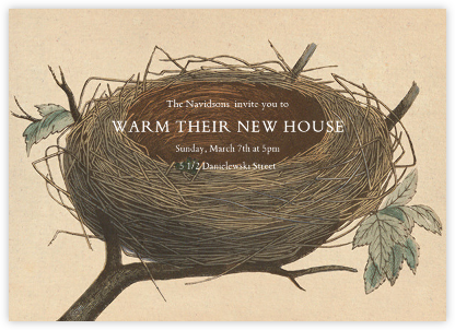 Aerie - John Derian - Housewarming party invitations