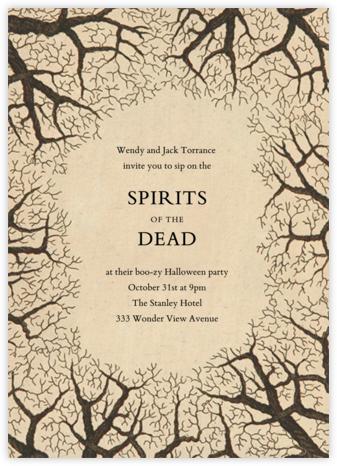 Bare Tree Border - John Derian - Halloween invitations