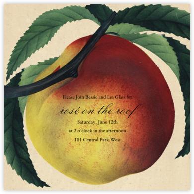 Large Peach - John Derian - Fruity invitations