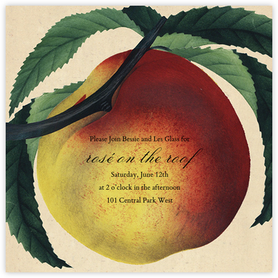 Large Peach - John Derian - Dinner party invitations