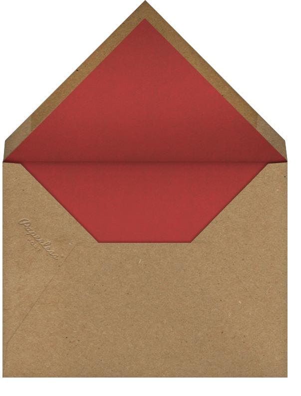 Large Peach - John Derian - Dinner party - envelope back