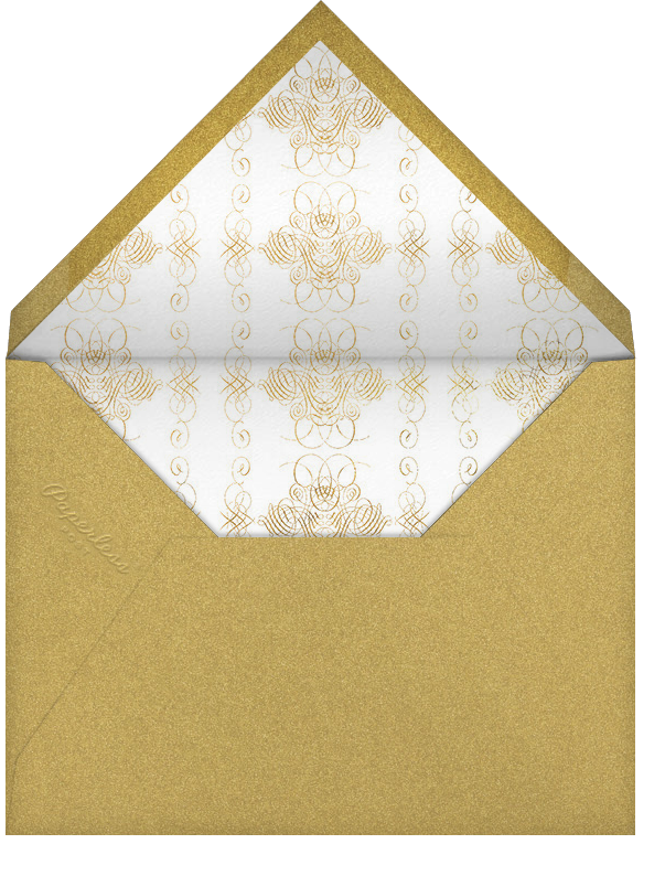 Happy New Year Script - Cream and Gold - Bernard Maisner - Use your own logo - envelope back