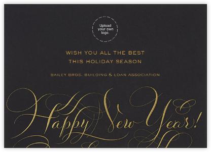 Happy New Year Script - Black and Gold - Bernard Maisner -