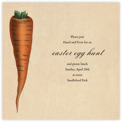 Carrot - John Derian - Easter Invitations
