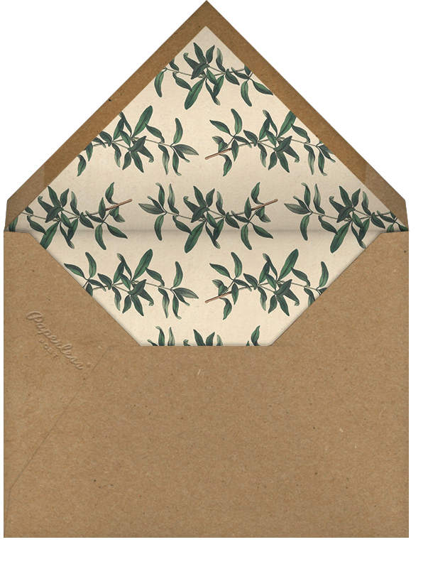 Swallow - John Derian - Dinner party - envelope back