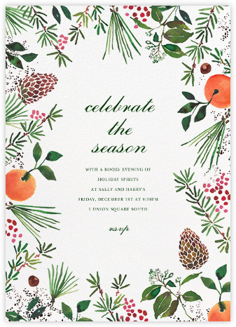 Holiday Market - Happy Menocal - Professional party invitations and cards