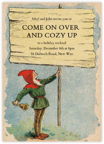 Gnome - John Derian - Christmas Party Invitations
