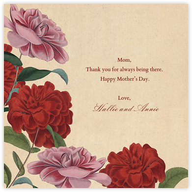 Double Rose - John Derian - Mother's day cards