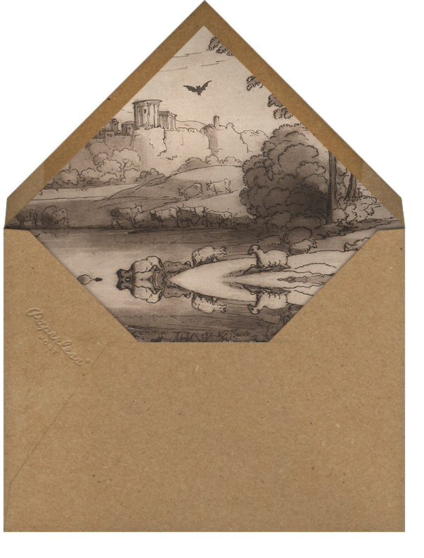 Bat (Horizontal) - John Derian - Halloween - envelope back