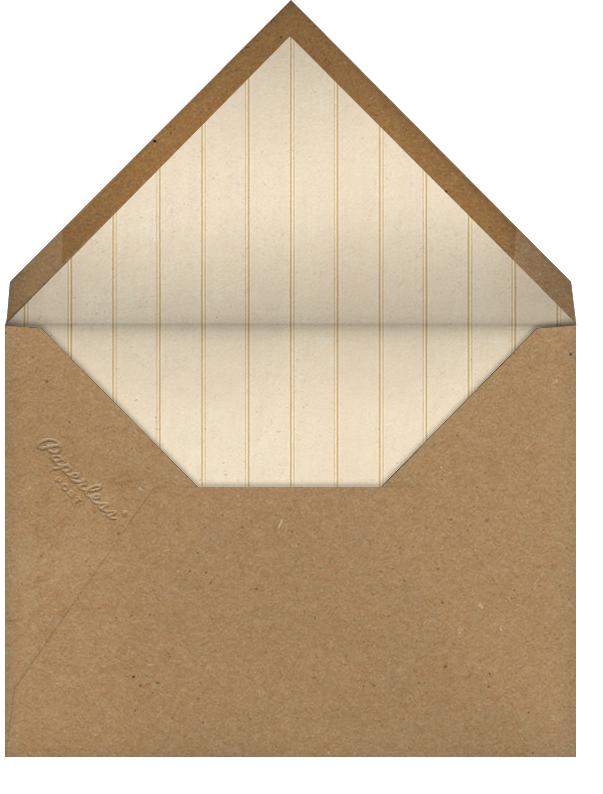 White Dahlia - John Derian - Personalized stationery - envelope back