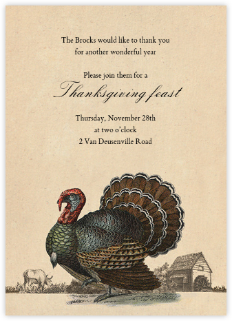 Turkey and Farm - John Derian - Thanksgiving invitations