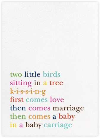 Type Story - kate spade new york - Birth announcements