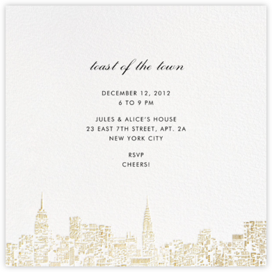 City Lights II (Square) - White/Gold - kate spade new york -