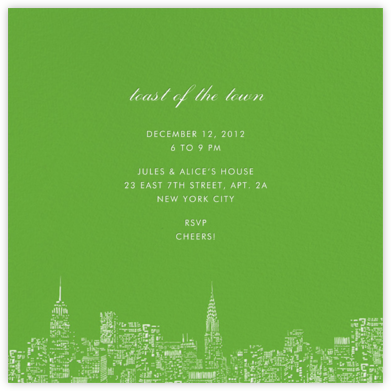 City Lights II (Square) - Green/White - kate spade new york -
