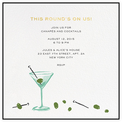 More Olives - kate spade new york - General Entertaining Invitations