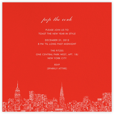 City Lights II (Square) - Red/White - kate spade new york -