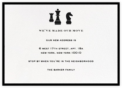 Chess - kate spade new york - Moving announcements