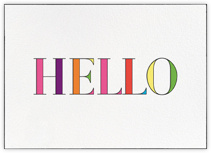 Rainbow Hello - kate spade new york - Just because cards