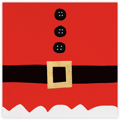 Ho Ho Ho Santa Belt (Invitation) - kate spade new york - Kate Spade invitations, save the dates, and cards