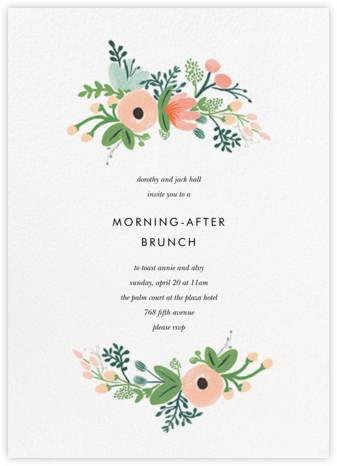 Wrapped in Wildflowers (Invitation) | tall