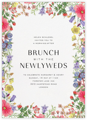 Archival Florals - Liberty - Brunch invitations