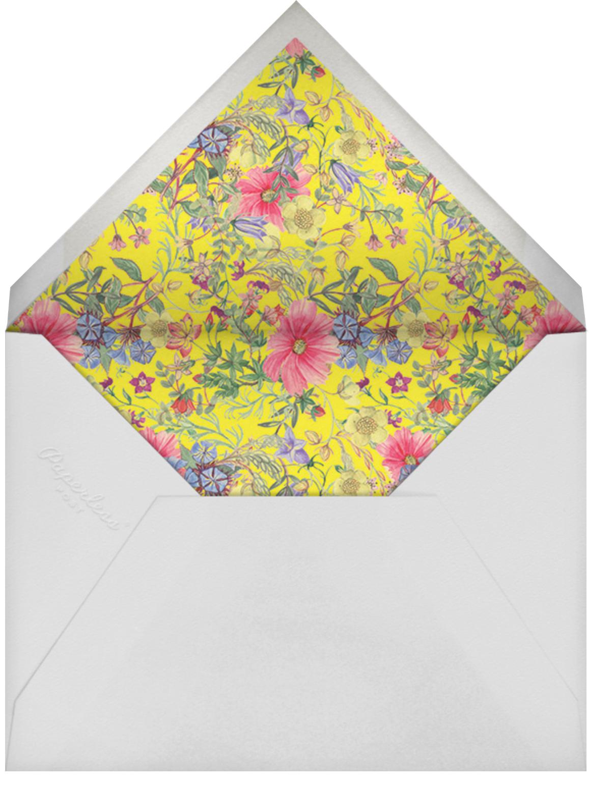 Archival Florals - Liberty - Wedding brunch - envelope back